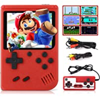 Fivejoy Retro Game Console For Boy, Handheld Games Consoles With 400 FC Games 2.8 Inch Retro Mini Game Player Support Tv & 2 Player 1020mah Rechargable & Portable HD LCD Game Console Boy
