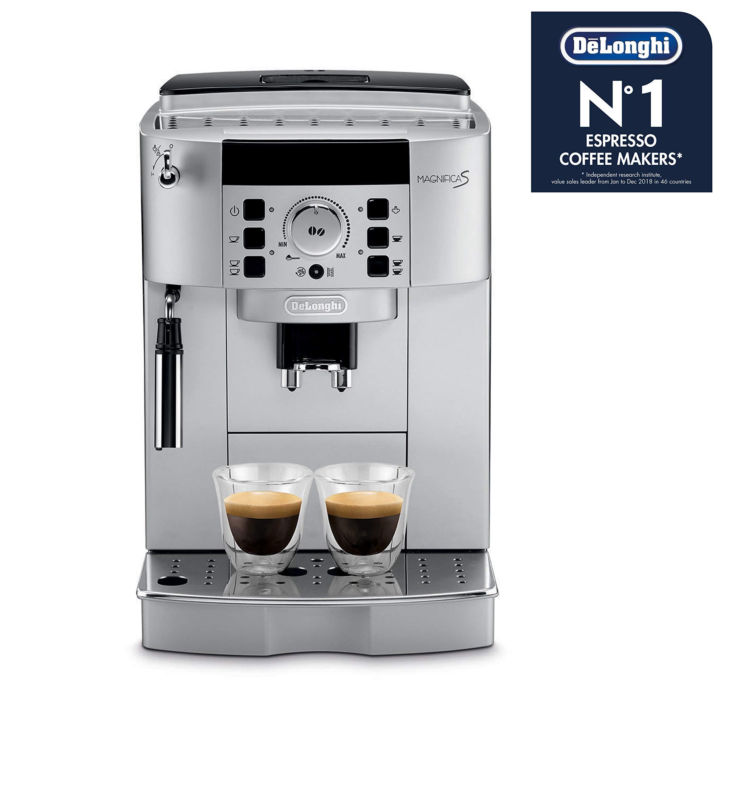 DeLonghi-Perfecta-ESAM-5500S-Kaffeevollautomat-18-l-Digitaldisplay-Integriertes-Milchsystem-Kegelmahlwerk-13-stufiges-Mahlwerk-Herausnehmbare-Brhgruppe-2-Tassen-Funktion