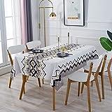Nappe Rectangulaire Antitache, GuKKK Nappe Imperméable de Table, 140 x 200cm PVC Nappe, Lavable Entretien Facile Nappe, pour