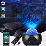 Star Projector,LED Night Light for Bedroom Ceiling,3 in 1 Laser Sky Lite Projector Lamp with Bluetooth Speeker&Remote for Kid