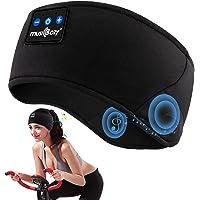 Sleep Headphones Blue-tooth Sports Headband, Wireless Sleeping Headphones Breathable Music Headband with Blue-tooth 5.0…