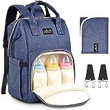 Bytesväska för baby, viedouce blöjväska blöjryggsäck, moderskapspåsar med 1 st skötbädd och 2 barnvagnsremmar, vattentåliga,