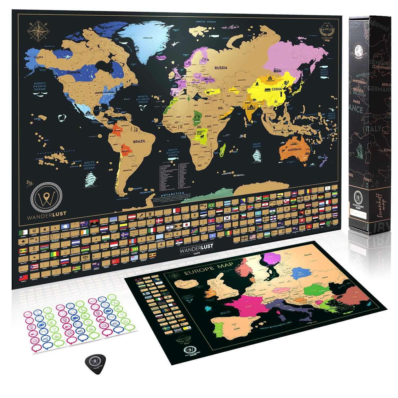 Cartina Mondo Gratta.Due Mappe Da Grattare Mappa Del Mondo Da Grattare Con Bandiere Xxl Offerta Gratuita Una Mappa Dell Europa Da Grattare Compra Al Prezzo Migliore