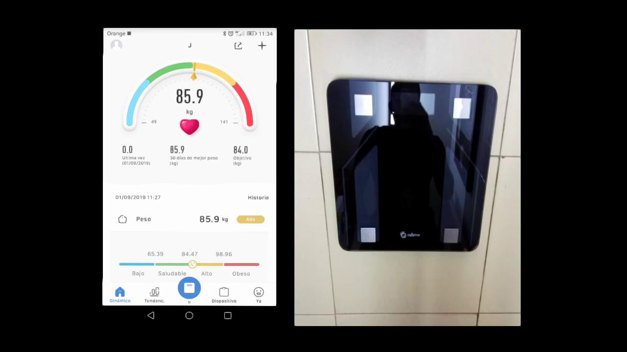 Bascula Baño Bluetooth Báscula Grasa Corporal Profesional Inteligente Báscula de Baño Digital Báscula Corporal con App para Android y iOS: Amazon.es: Salud ...