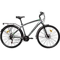 "Moma Bikes, Vélo TREKKING, TREKKING PRO M 28"", Aluminium, SHIMANO 21V, Freins a Disque, Suspension Avant (Plusieurs tailles)"