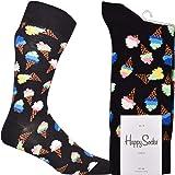 Happy Socks Ice Cream Sock Calcetines, Black, 4-11 (Size:41-46) para Hombre