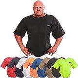 C.P. Sports Bodybuilding Shirt, Fitness, Freizeit, Sport Shirt, Ideal für Workout im Fitness Studio, schwarz, pink, hellgrau, dunkelgrau, Neongelb, rot, blau, orange