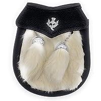 Boys Semi Dress White Kilt Sporran with a Thistle Emblem & Chain Belt