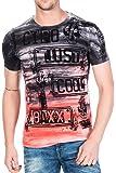 Cipo&Baxx T-Shirt Herren Slim Fit mit Rundhalsschnitt einzigartige Prints