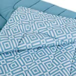 Home Box AtlantA Blake Printed Single Comforter, Blue