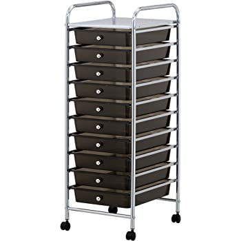 vonhaus aufbewahrungs trolley rollcontainer rollwagen aufbewahrungsboxen mit 10 f chern. Black Bedroom Furniture Sets. Home Design Ideas