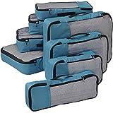 FATMUG Polyester & Fabric Packing Cubes (Set of 8) (Blue_600047SWBGA1)
