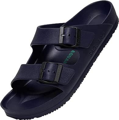 SAGUARO Open Toe EVA Slippers for Men Women Non-Slip Beach Sandals Lightweight Bathing Slider Shoes Unisex