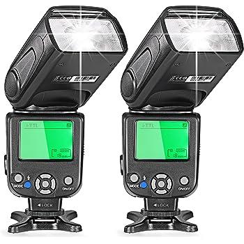 Neewer® 2pz I-TTL Flash Speedlite per Fotocamere DSLR Nikon come D7200 D7100 D7000 D5200 D5100 D5000 D3000 D3100 D300 D700 D600 D90 D80 D70 D70S D60 D50 (NW-562)
