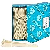 GRÄWE Wegwerpbestek houten vorken, 100 stuks, houten bestek, milieuvriendelijk van hout, biologisch afbreekbaar