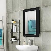Nilkamal Gem Plastic Cabinet with Mirror Black