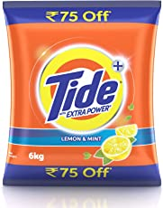 Tide Extra Power Detergent Washing Powder - 6kg (Lemon and Mint, Rupees 75 Off)