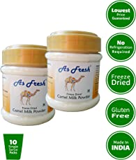 As Fresh Camel Milk Powder, 200g (Freeze Dried, Gluten Free, No Additives, No Preservatives)