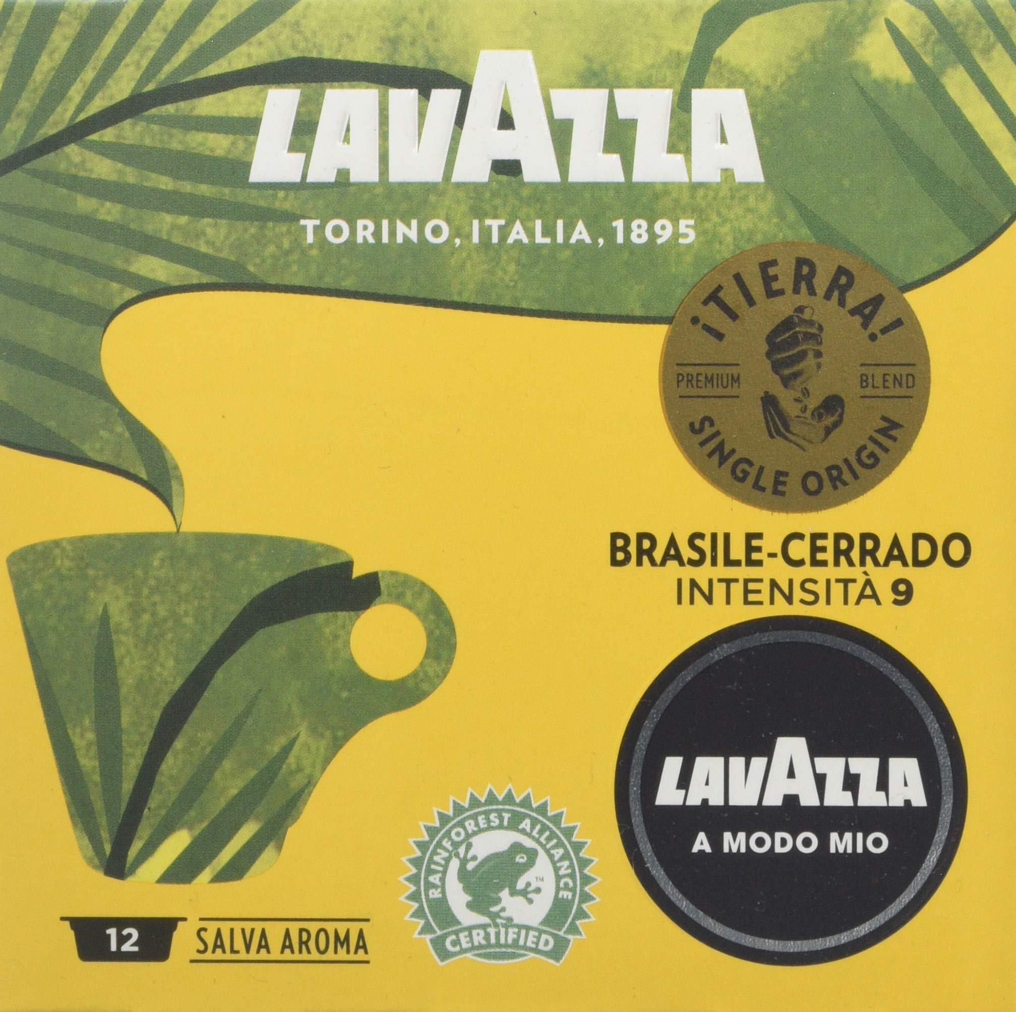 Lavazza A Modo Mio ¡Tierra! Peru-Ande Single Origin Coffee Capsules