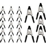 Amazon Basics Jeu de pinces à ressort en acier de 20 pièces - 15 pièces 1,91 cm, 5 pièces 2,54 cm