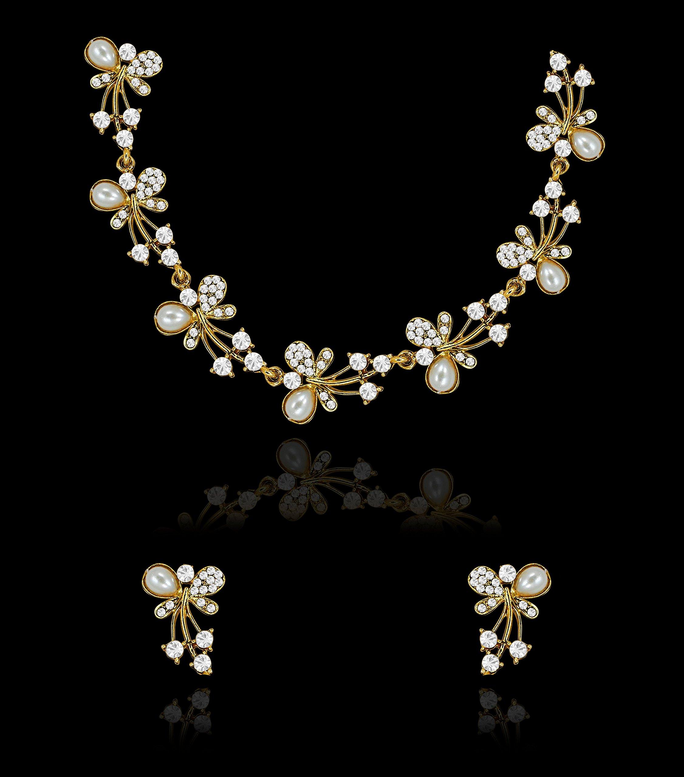 a698d3e4958e3 Zaveri Pearls Jewellery Set for Women (Golden)(ZPFK5216)