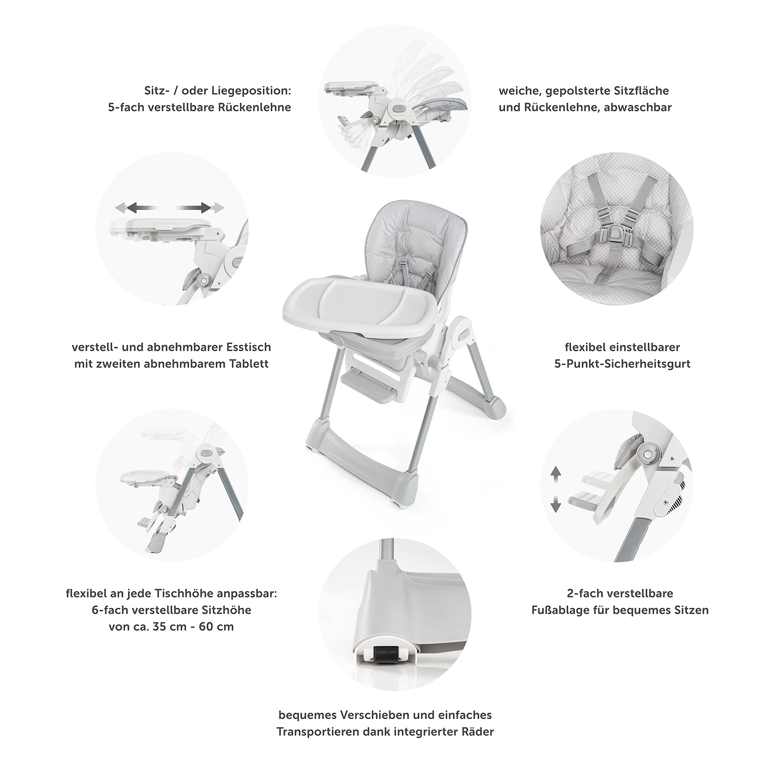 Fillikid baby trona silla alta de beb asiento for Mesa plegable con asientos