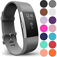Yousave Accessories Compatible Strap for FitBit Charge 2, Silicone Sport Wristband for the FitBit Charge 2 - Available in 18 Colours