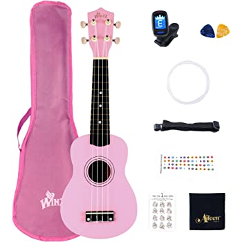 Best Pink Soprano Ukulele with Bag, Great Fun for Adult Beginners ...