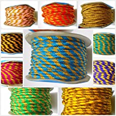 Goelx Fancy Thread Combo For Jewelry Making/Crafts Each 2 Meters Each 10 Colours