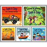 Zayn and Zoey Habitat Series - Set of 5 Books (Rainforest, Desert, Polar, Coral Reefs, Savannahs) - Educational Story Book fo