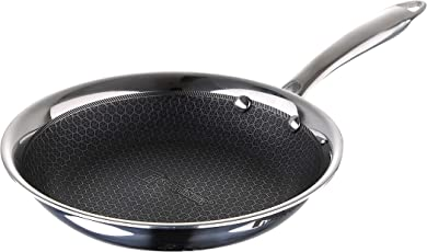 Bergner Hitech-3 Prism Induction Base Non-Stick Stainless Steel Fry Pan, 20 cm, Silver