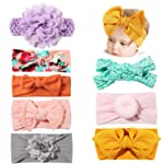 Bascolor Baby Girls Headbands and Bow Soft Elastic Turban Knotted Hairbands for Kids Toddler Newborn Infant Hair Accessories