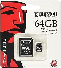 Kingston Scheda MicroSDHC/SDXC Classe 10 UHS-I, 64 GB, Velocità Minima di 10 MB/s, con Adattatore SD