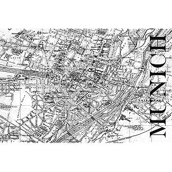 München Karte Schwarz Weiß.Artland Qualitätsbilder I Poster Kunstdruck Bilder Städte Italien