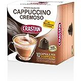 Crastan Capsule Compatibili Dolce Gusto - Cappuccino Cremoso - 10 Confezioni da 10 Capsule [100 Capsule]