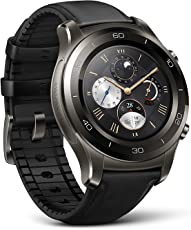 Huawei Watch 2 Classic - Hybrid Strap - Android Wear 2.0 Smartwatch (Titanium Grey with Black)