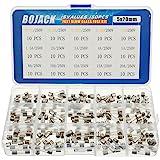 BOJACK 15 värden 150 st snabbblåst glassäkringar sortimentsats 5 x 20 mm 250 V 0,1 0,25 0,5 1 1,5 2 3 4 5 8 10 12 15 20A pake