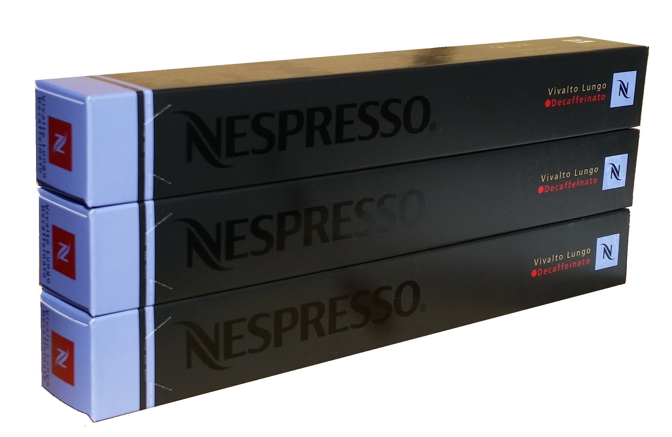 Nespresso Original Decaffeinato coffee pods and capsules (a cereal, floral notes, roasted notes, woody notes coffee with aromas of caramel and roasted, fresh fruit and petals, nutty, spices and tobacco)