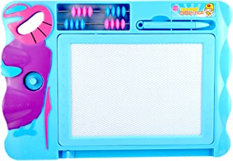 INFInxt Magic Magnetic Slate with Abacus for Kids -Blue