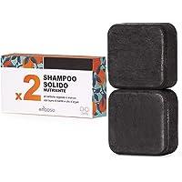 Shampoo Solido Bio Purificante e Nutriente al Carbone Vegetale - Enooso - 100% Artigianale Biologico Naturale Vegano…