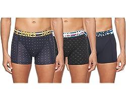 JACK & JONES JACHENRIK Trunks 3 Pack Noos Bóxer, Multicolor (Black Detail: Navy Blazer), Small para Hombre