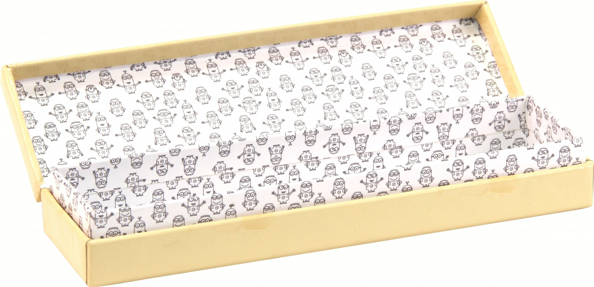 Clairefontaine 812742C–Plumier cartón Minions Dimensión, 21x 5,5x 3cm Bananas