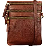 ABYS Genuine Leather Bombay Brown Sling & Cross-Body Bags For Men And Women