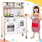 Tiny Land Cucina-Giocattolo-per-Bambini con 18 Accessori per Cibo e pentole Giocattolo Set da Gioco Set da Gioco per Chef in