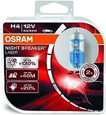 Osram 64193NBL-HCB NIGHT BREAKER LASER H4 Halogen Scheinwerferlampe, 12V, Duo Box, 2 Stück