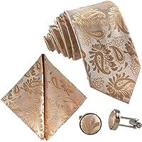 GASSANI Set Cravatta 3 Pezzi 7cm, Motivi Paisley, 23 Disegni