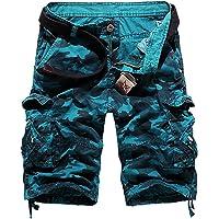 FLYF Mens Camo Cargo Shorts Army Combat Shorts Summer Cargo Short 29-40
