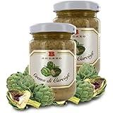 Delicata Crema di Carciofi, Ideale da Spalmare, per Aperitivi E Come Condimento, 135 Grammi (Confezione da 2 Pezzi)