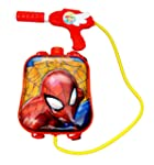 Toyshine Startoys Holi Water Gun with High Pressure, Back Holding Tank, 3.0 L, Spiderman, Red