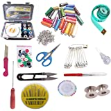 S2N Sewing Kit Set 3 Layer Sewing Box with 24 Sewing Thread and Other 15 Sewing Accessories